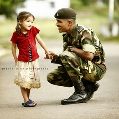 For your tomorrow, we gave our today. Army Love Quotes, Pak Army Quotes, Indian Army Quotes, Love Quotes For Girlfriend, Army Girlfriend, Army Couple Pictures, Military Couple Photography, Indian Army Special Forces, Cute Baby Couple