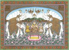Lakshmi lustrated by elephants