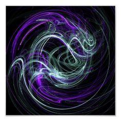 Light Within - Violet & Indigo Swirls on Canvas poster  #DianeClancy