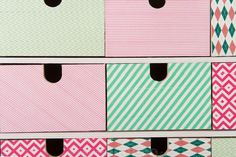Decorate your storage with washi tape