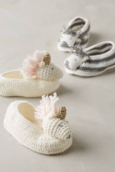 Crocheted Booties | Anthropologie