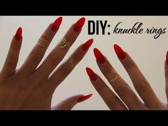 These knuckle rings are super easy to make and inexpensive. All supplies are from Michaels. The wire is less than $4. Use your imagination or look at Esty and recreate looks for less!