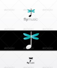 FlyMusic by durogerti This a beautiful logo template full of colors simple for technology companies, file format is eps very easy to edit it font that i