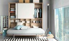 Lit rabattable on pinterest murphy beds armoire lit - Lit rabattable au mur ...