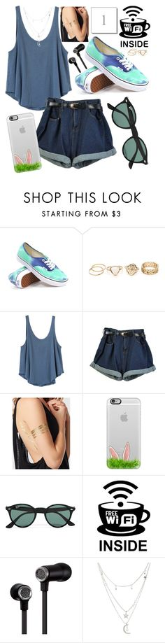 """""""Spring/summer style☀️"""" by leonormoral ❤ liked on Polyvore featuring Vans, RVCA, La Senza, Casetify, Ray-Ban, Master & Dynamic and Charlotte Russe"""