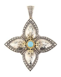 Y2FPA Konstantino Turquoise Cabochon Cross Enhancer