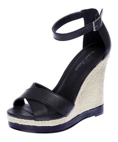 This Black Geisa Wedge Sandal by Michael Antonio is perfect! #zulilyfinds