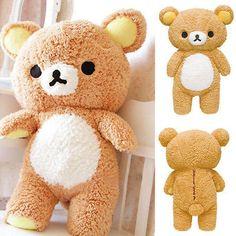 Details about New Stuffed 21 Kawaii Gift Rilakkuma Relax Bear Pillow Plush Toy Doll Chic 1 x San-x Rilakkuma Bear. Plush Dolls, Doll Toys, Pet Toys, Huge Teddy Bears, Crochet Teddy Bear Pattern, Kawaii Gifts, Cute Plush, Bear Doll, Stuffed Toys Patterns