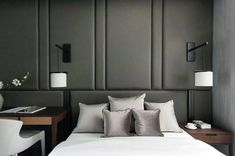 Padded wall panels in the bedroom – outstanding accent wall ideas - Decoration 2 Bedroom Bed, Home Decor Bedroom, Modern Bedroom, Bedroom Ideas, Master Bedroom, Padded Wall Panels, Asian Style Bedrooms, Headboards For Beds, Luxurious Bedrooms