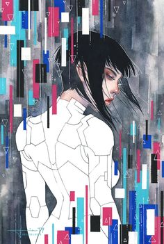 """kelogsloops:  """"The Major,' the finished piece I've been working on for the upcoming Ghost in the Shell film!  """""""