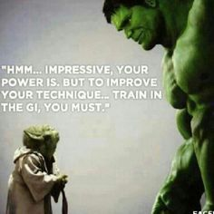 Train in the gi, you must. #BJJ