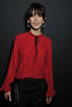 Sophie Marceau by Stéphane Feugère wears Gucci. Sophie Marceau, Most Beautiful Women, Beautiful Outfits, Jenifer Aniston, Cooler Look, French Actress, Jolie Photo, French Chic, Celebs