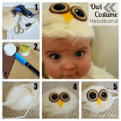 Girl Loves Glam: No Sew Baby Owl Costume -- Hedwig? Can't wait until we are parents!