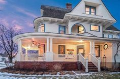 1896 Victorian For Sale In Brodhead Wisconsin — Captivating Houses 1900s House, Brick Driveway, Shake Shingle, Leaded Glass Windows, Victorian Style Homes, Goth Home, Mansions For Sale, Home Warranty, Grand Staircase