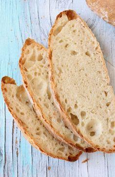 Easy Crusty Vegan Bread Recipe with Big Holes Easy Vegan Bread Recipe, Bread Recipe Video, Vegan Recipes, Cooking Recipes, Vegan Food, Artisan Bread Recipes, Vegan Society, Rustic Bread, Italian Pizza Dough Recipe