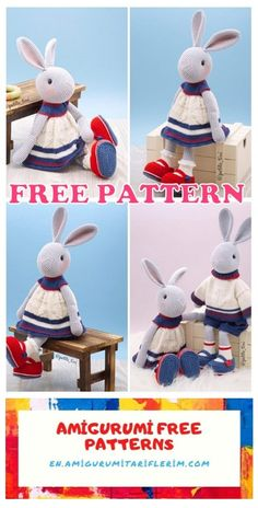 Crochet For Kids, Free Crochet, Crochet Children, Double Crochet, Single Crochet, Crochet Dolls, Crochet Hats, Rabbit Toys, Crochet Basics