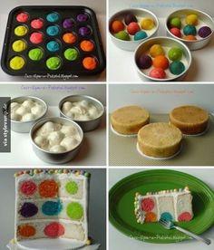Kuchen mit Überraschungseffekt