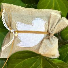 Bird Wedding - Baptism Favor by LuckyLuvEventsCo on Etsy Wedding Pillows, Baptism Favors, Small Pillows, Guest Gifts, Little Boys, Wedding Favors, Cotton Fabric, Pouch, Reusable Tote Bags