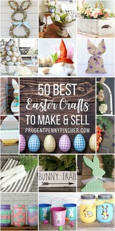 Make some extra money with these creative easter crafts to sell. From stunning easter wreaths to DIY easter wood signs, there are plenty of popular and easy easter crafts to choose from. to make and sell diy popular 50 DIY Easter Crafts to Sell Easter Crafts To Make, Easter Crafts For Toddlers, Crafts To Make And Sell, Easter Ideas, Bunny Crafts, Easter Projects, Easter Activities, Sell Diy, Easy Crafts