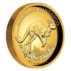 Australian Kangaroo 2017 1oz Gold Proof High Relief Coin