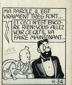 Tintin Les 7 Boules de Cristal par Hergé - Oeuvre originale Details: http://www.2dgalleries.fr/artwork/show?id=16758
