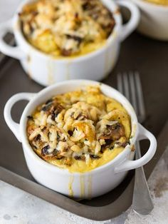 Savoury Bread Puddings with Vegetables
