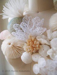 Mariko Kusumoto: Luminous Fiber Sculpture & Jewellery – THE Sculpture Textile, Soft Sculpture, Textile Texture, Textile Fabrics, Texture Art, Textile Fiber Art, Textile Manipulation, Fabric Manipulation Techniques, A Level Textiles