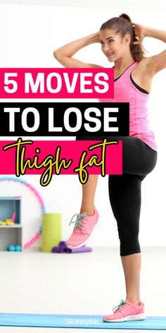 Get lean, toned legs in just 5 moves with this skinny thigh workout! Skinny Thigh Workouts, Thigh Exercises, Leg Workouts, Skinny Thighs, Skinny Ms, Single Leg Deadlift, Lose Thigh Fat, Fat Burning Cardio, Strong Legs