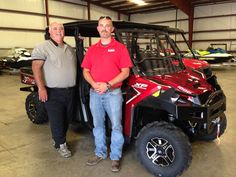 Thank you Todd Whatley and Jason Sutphin from The City of Richland for getting your 2017 Polaris Ranger 1000 Crew at Hattiesburg Cycles. #polaris