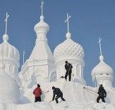 Spectacular ice architecture in China's Jilin Province.