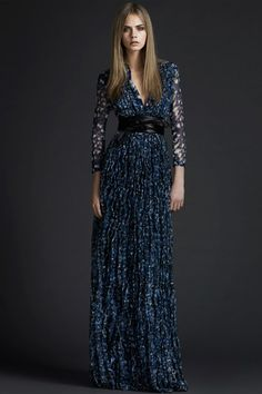 BURBERRY Prorsum Pre-Fall 2011 Maxi Dresses via style.com