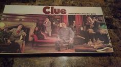 1972 Clue Parker Brothers Detective Game. Suspects photographed on the cards.