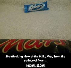 View The Milky Way From Mars... #lol #haha #funny