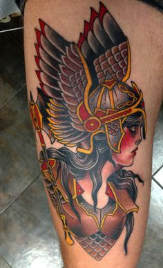 UPDATE: Third and final session of my Valkyrie, by Stefan Johnsson, California Electric Tattoo, Soquel, CA.