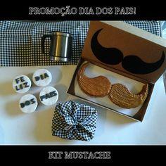 PROMOÇÃO DIA DOS PAIS: Com o kit mustache, estilo não vai faltar no seu presente.  O kit contém: Bolo Mustache, 4 cupcakes, 6 brigadeiros gourmets de vinho do Porto e uma caneca de viagem, tudo em uma embalagem super bonita e estilosa. Apenas R$59,90 Encomendas: 32244401 - 88723101 - 92004611