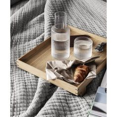 Ferm Living Ripple Carafe And Matching Glass Set - Trouva Deco Design, Design Shop, Glass Design, Design Design, Interior Design, Design Bestseller, Japan Design, Japanese Aesthetic, Breakfast In Bed