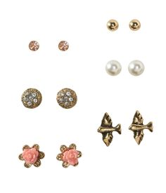 Gold-Tone Stud Earring 6-Pack