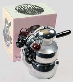 Atomic Espresso Coffee Maker, designed by Giordano Robbiati of Milan Italy in Nitro Coffee, Decaf Coffee, Coffee Barista, Coffee Drinks, Coffee Scrub, Drinking Coffee, Iced Coffee, Coffee Maker Machine, Best Coffee Maker