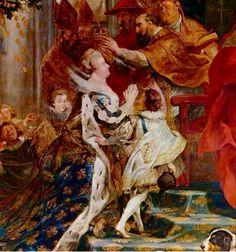 Fragmento del cuadro ya realizado por Rubens,de la coronación de María de Medicis