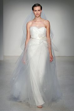 Tulle wedding dress from Christos, Fall 2013