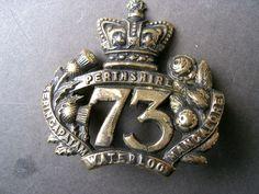 British; 73rd (Perthshire) Regiment of Foot , Glengarry cap badge, 1868-1881