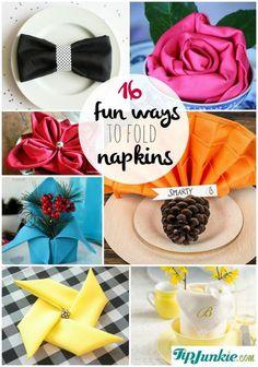 16 Fun Ways to Fold Napkins