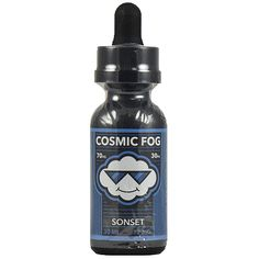 Cosmic Fog Vapors Sonset - A vape that can transport your body and soul to a spring time Fiji sunset. We started with a purée of Japanese Nashi pears and blended it with a French inspired Crème brûlée. The closely guarded recipe is then topped off with a generous portion of soft salted caramel.70% VG.