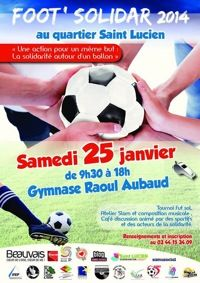 Foot Solidar, tournoi en salle. Le samedi 25 janvier 2014 à beauvais.