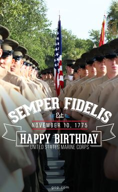 Happy birthday marine corps greeting cards mail them out to your repin to wish the us marines a happy birthday m4hsunfo