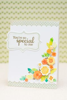 color paper first with water colors THEN cut out leaves/flowers with dies. Beautiful variations in colors - and you can stamp on top if you wish!