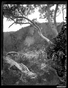 Galston Bridge is a single span McDonald truss bridge located on Galston Rd.It was built in 1893 and crosses Tunks Creek in Galston Gorge,east of Hornsby (year unknown). Botany Bay, Maritime Museum, Historical Pictures, Sydney Australia, Great Britain, Geography, Old Photos, Sailing, South Wales