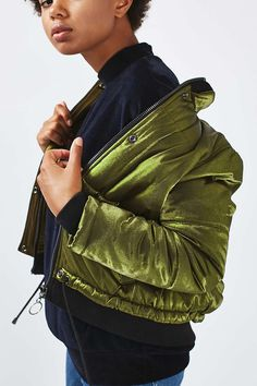 Shiny Satin Puffer Jacket