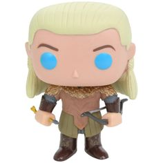 The Hobbit: The Desolation Of Smaug Legolas Greenleaf (Blue Eyes) Pop!... ($13) ❤ liked on Polyvore featuring toys and funko