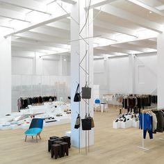 Tolles Design so weit das Auge reicht bei Andreas Murkudis   creme berlin